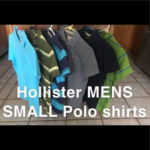 (6) Men's Size SMALL Hollister Polos